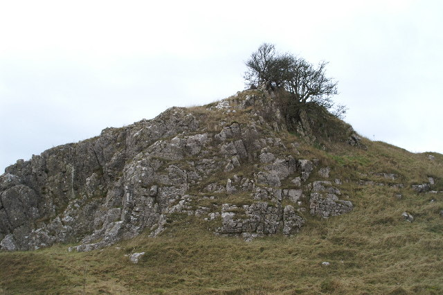 Outcrop of rock