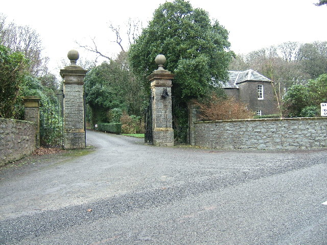 The entrance to Dunskey House near Portpatrick