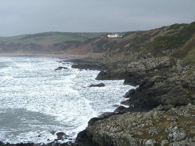 Killantringan Bay, Knock Bay and House of Knock, near Portpatrick