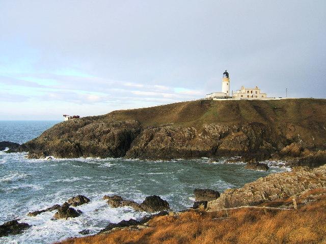 Killantringan Lighthouse and foghorn, Black Head near Portpatrick