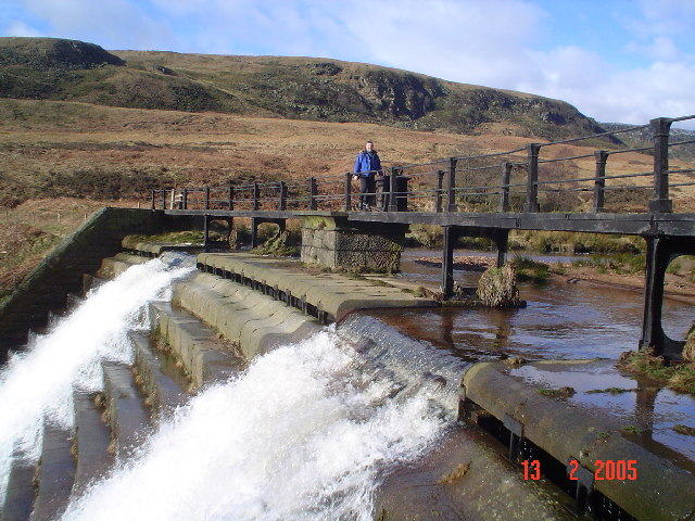 Footbridge over Crowden Beck.