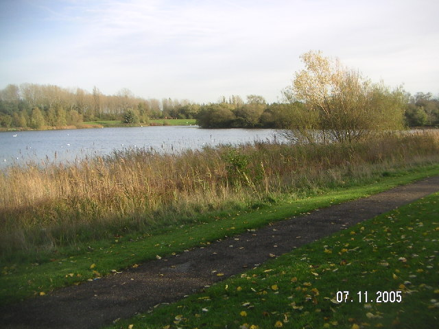 Tongwell Lake viewed in a south-easterly direction