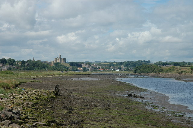 Warkworth Castle from Amble Marina