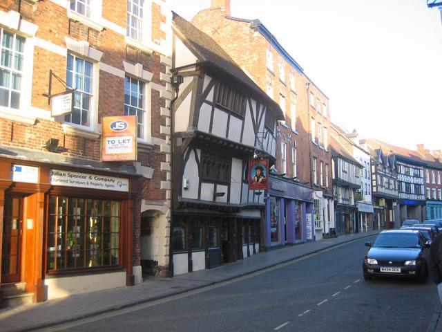 The street called Mardol, Shrewsbury