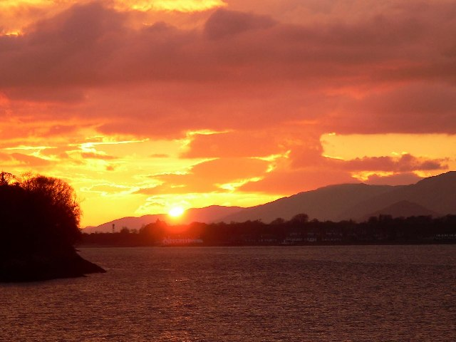 Sunset over the Corran Narrows