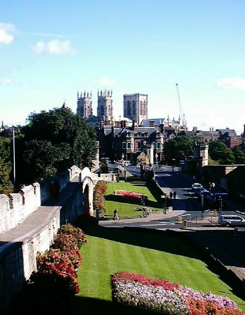 York Minster - viewed from the city wall.