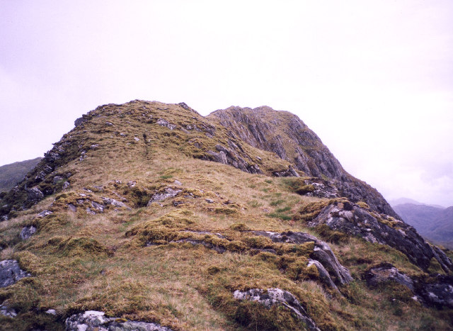 the West Ridge of the Aonach Sgoilte