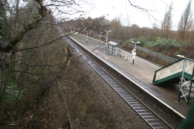 Higher Ince Station on the Wigan-Bolton-Manchester line