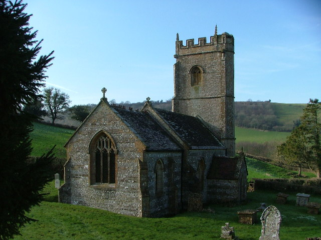 Batcombe Church from within the graveyard