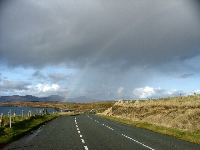 Towards Macleod's Tables, Skye,  from the A863