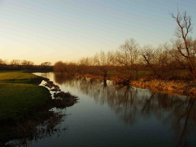 Winter river Nene at Oundle