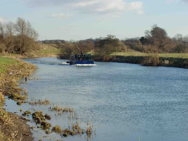 A working boat on the river Nene near Oundle