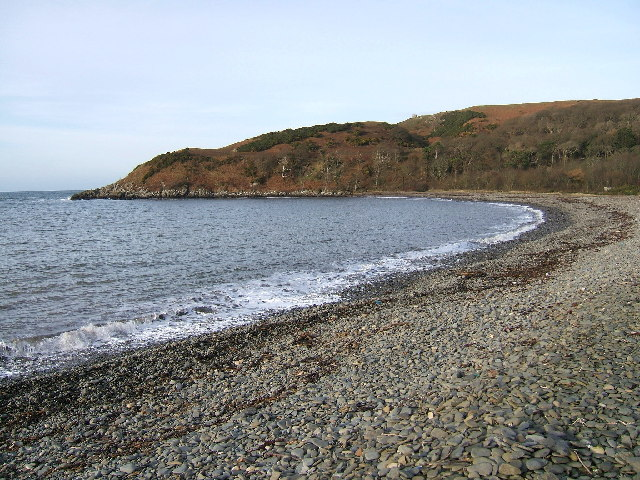 Finnarts Bay and Garry Point North of Cairnryan