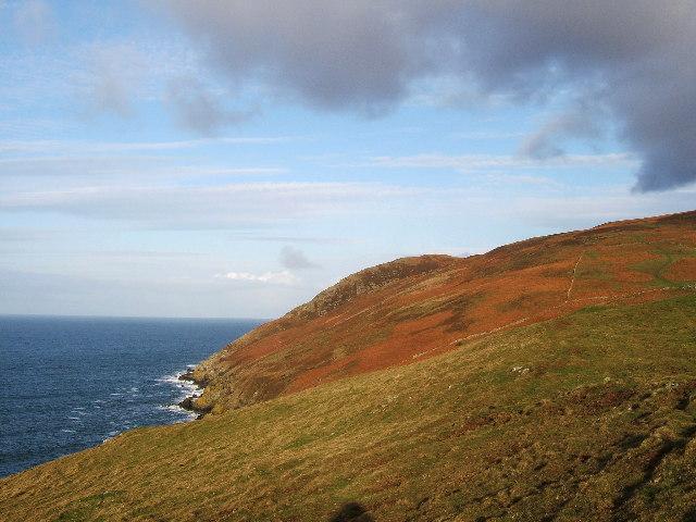 Finnarts Hill above Finnarts Point, Lochryan near Stranraer