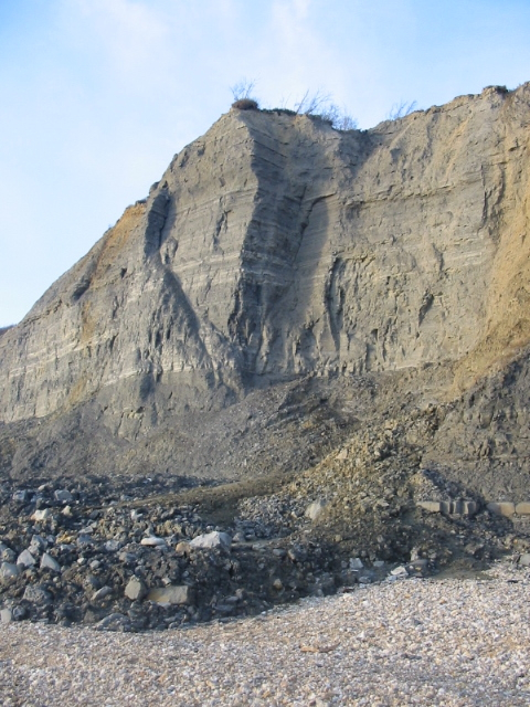 Cliff and erosion east of Charmouth