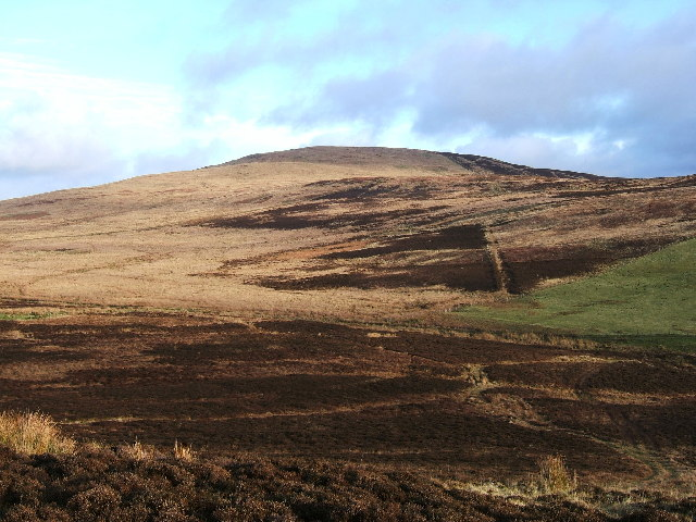 Penderry Hill (309 metres) North of Finnarts Bay and Glenapp.