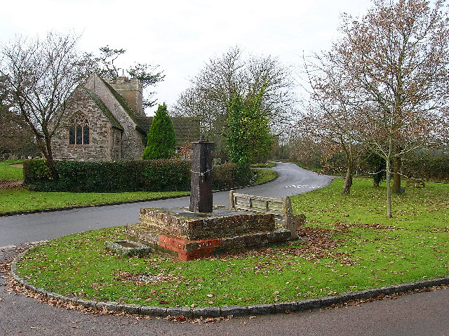 Birdham village pump and church
