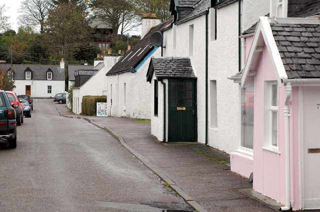 Back Road with Pink House, Plockton