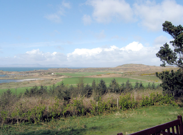 Looking West-northwest from Achamore House area, Gigha