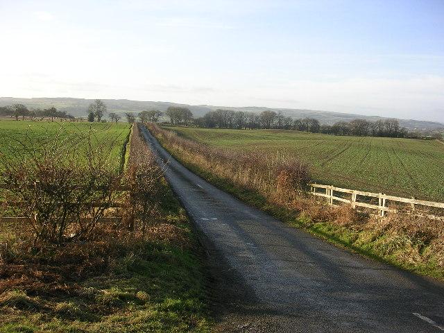 The lane to Carkin Moor, East Layton