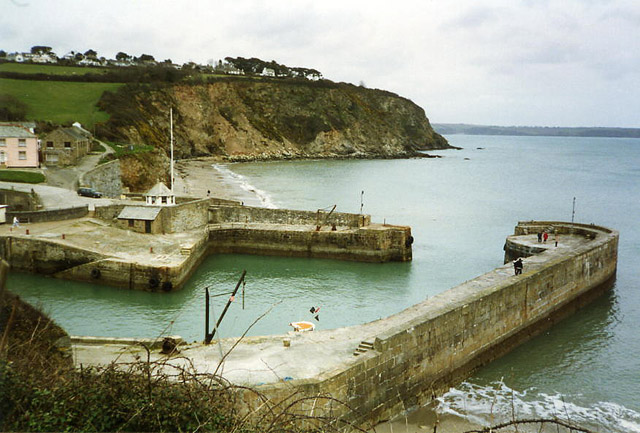 St Austell: entrance to Charlestown harbour