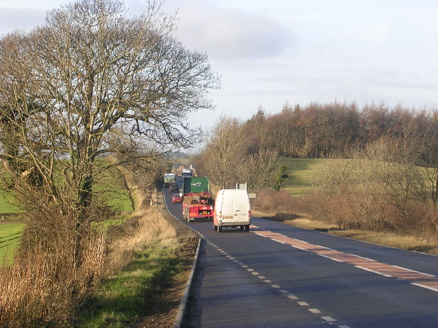 A66 and Roman Road at East Layton, near Richmond, North Yorkshire