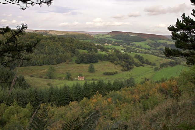 Looking towards Hawnby from Peak Scar