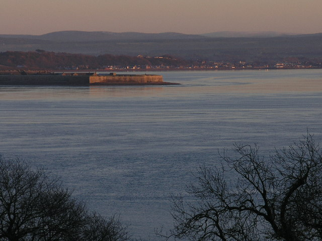 Fort George and the Moray Firth from Rosemarkie, winter sunset