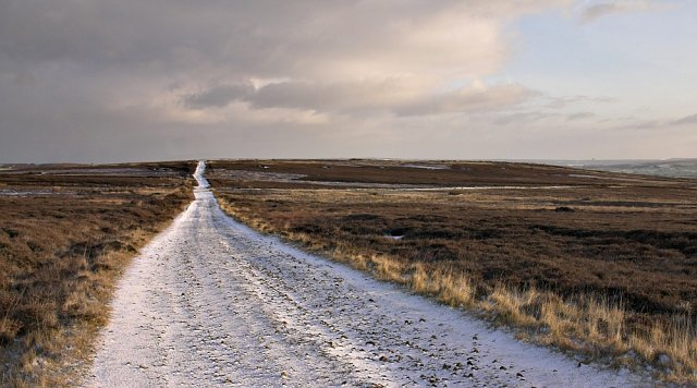 Desolate track on Lealholm moor