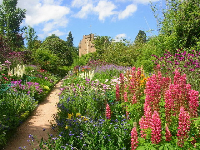 June Border at Crathes Castle Gardens