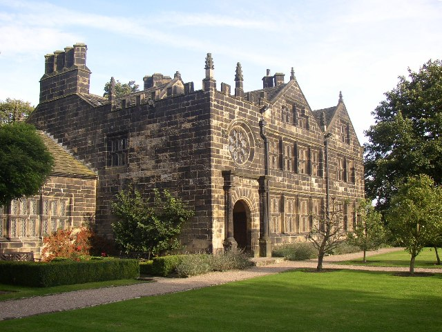 The south front, East Riddlesden Hall, Morton