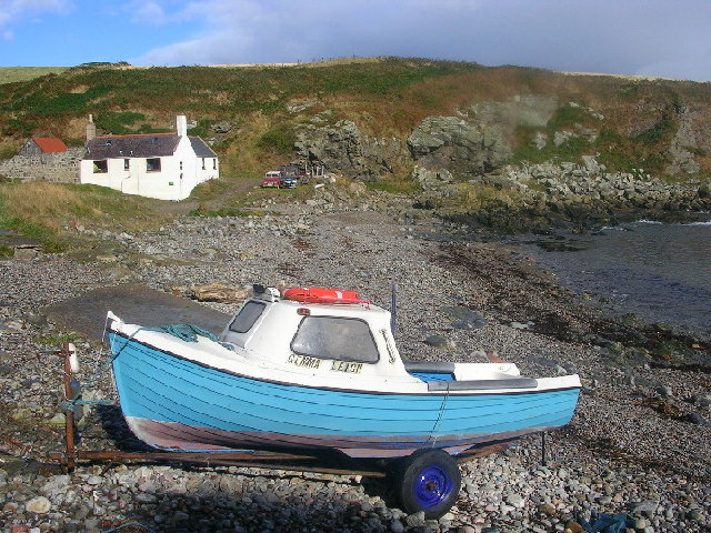 Boat at Newtonhill Harbour