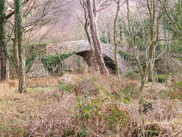 The old bridge over Water of App at Finnarts Bay near Cairnryan
