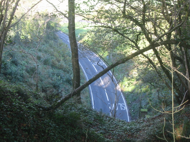 North end of road tunnel on A3066