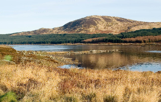 View of Black Craig from West of Loch Doon