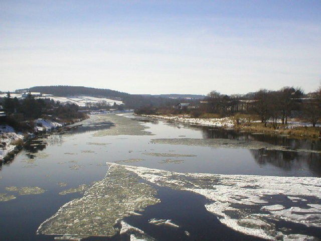 Wintry River Dee from Bridge of Dee