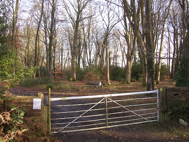Entrance to the SADAC car park, Acres Down, New Forest