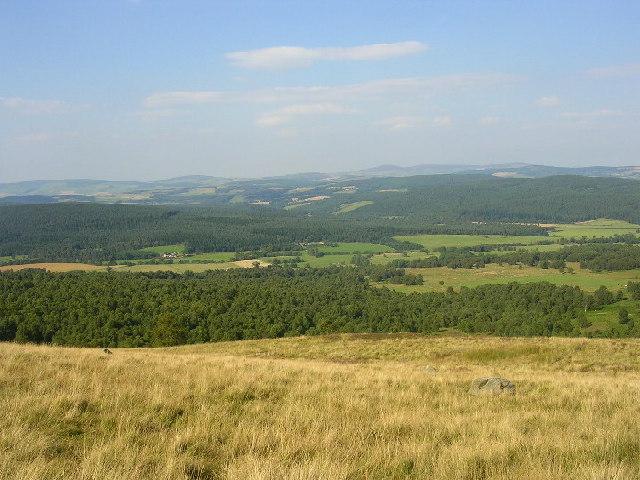 View of Deeside from Corsedardar Hill