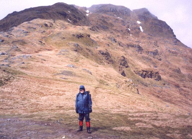 the col between Beinn Tulaichean and Cruach Ardrain