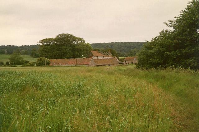 Wraxall: footpath to Watercress Farm