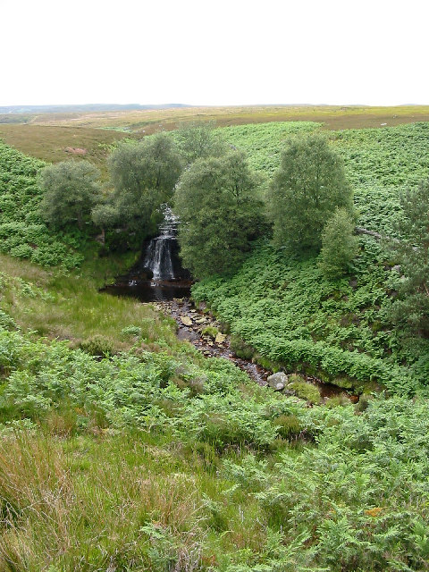 Waterfall on the Linn Burn, Hexhamshire Common
