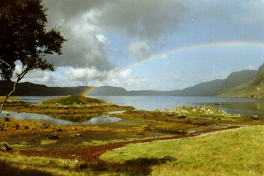 Rainbow at Loch Glencoul