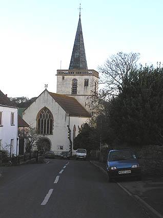 Stogursey church from main street
