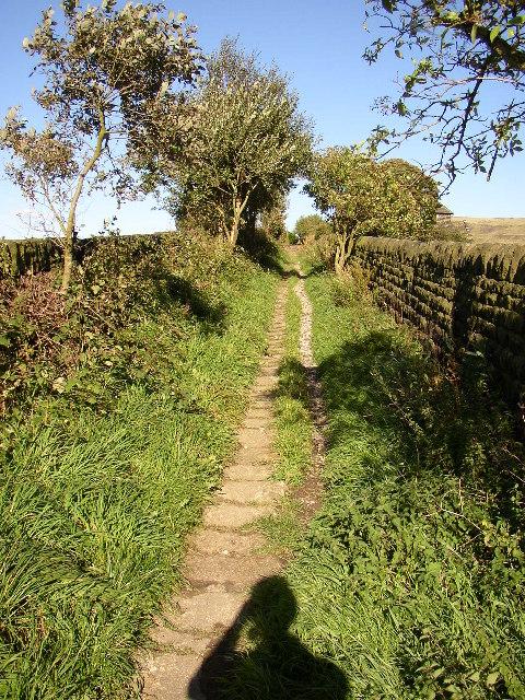 Packhorse way at Mankinholes, Langfield