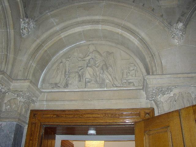 Carving in Dobroyd Castle, Todmorden