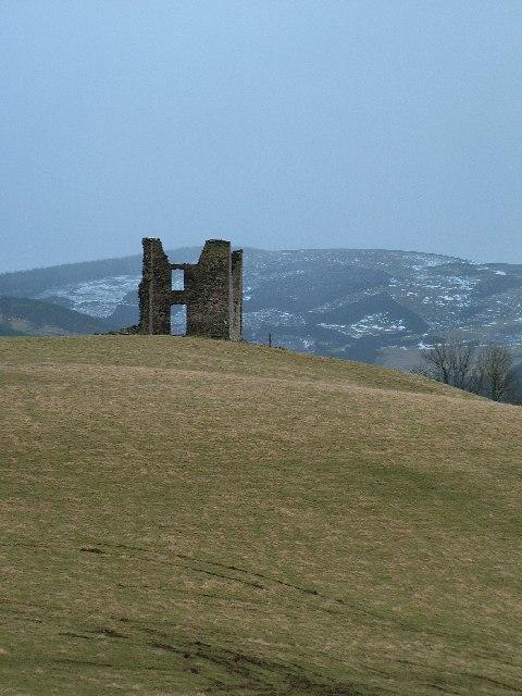 Tower ruin near Cardrona