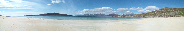 Panorama from Luskentyre Beach