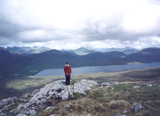 on the north ridge of Beinn a'Chrulaiste