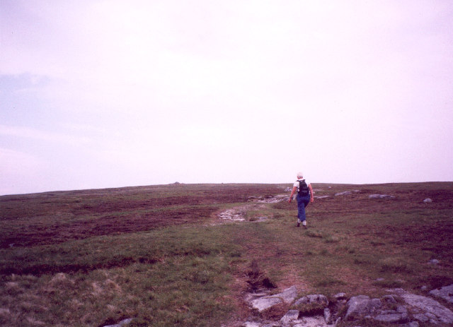 the gentle summit ridge of Cairnsmore of Fleet
