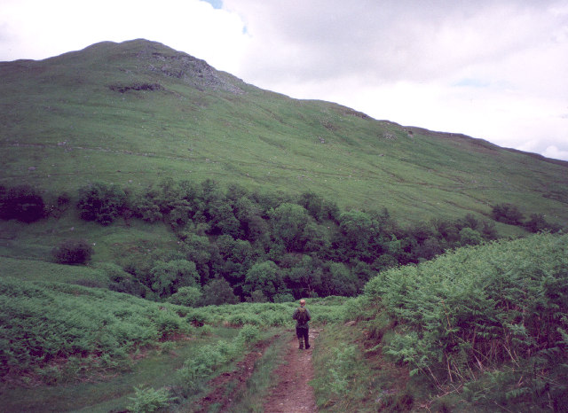 The path up Glen Croisk